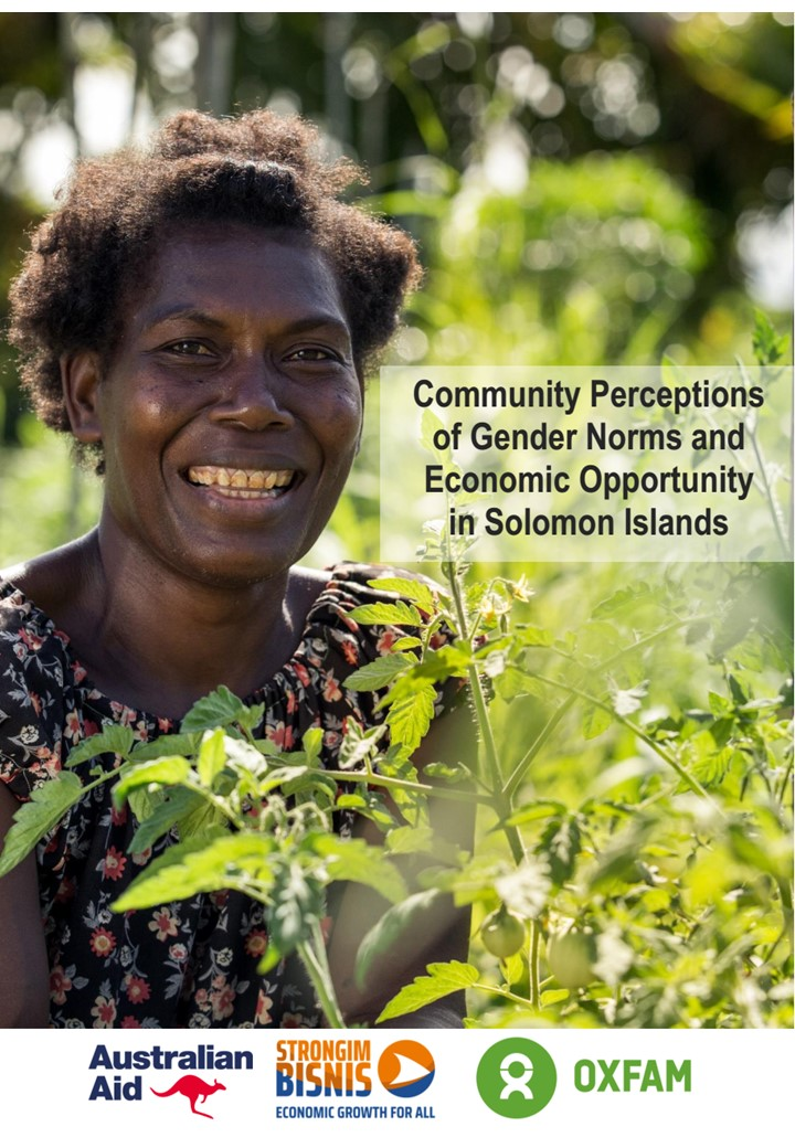 Community perceptions of gender norms and economic opportunity in rural Solomon Islands